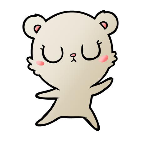 Charming bear cartoon character