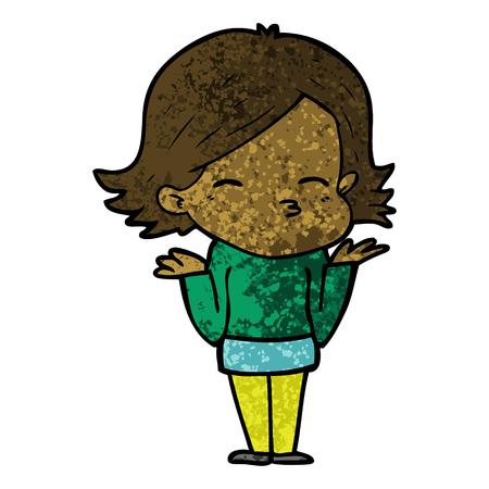 Ilustração de mulher confusa dos desenhos animados. Foto de archivo - 94622377