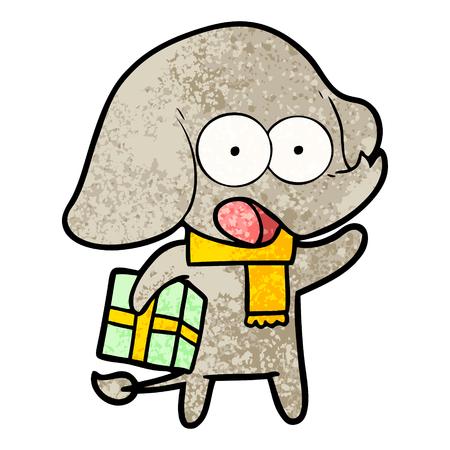 cute cartoon elephant illustration.