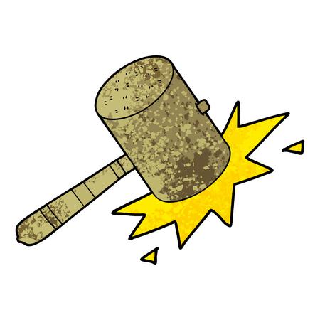 Cartoon banging gavel Ilustração
