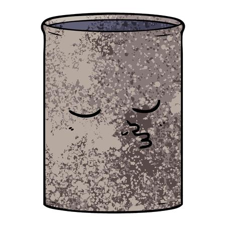 ●オイルイラストの漫画樽。  イラスト・ベクター素材