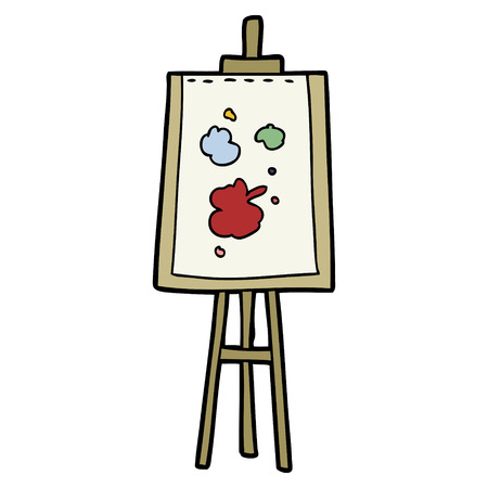 cartoon painting easel