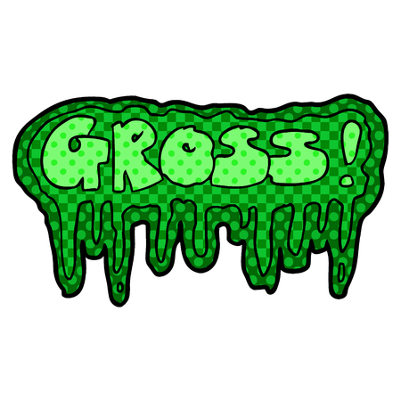 cartoon gross symbol illustration.