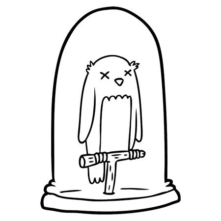 cartoon stuffed owl