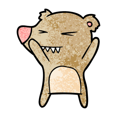 Angry bear cartoon