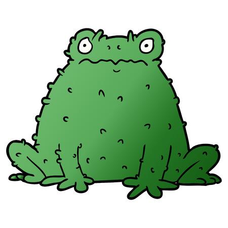 Illustration de crapaud de dessin animé. Banque d'images - 94623029