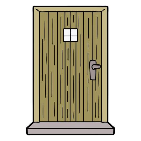 Cartoon doorway. Illusztráció