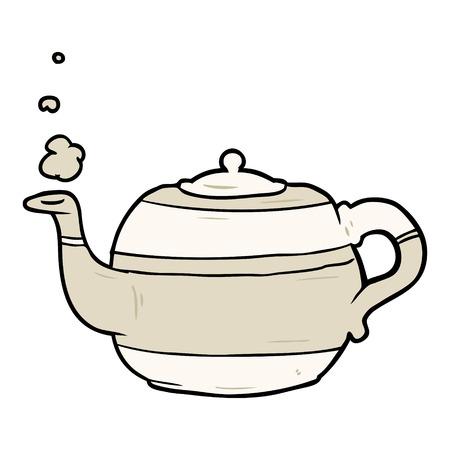 Cartoon tea pot. 일러스트