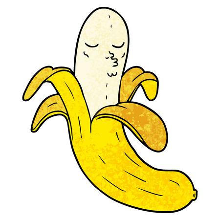 cartoon best quality organic banana Illustration