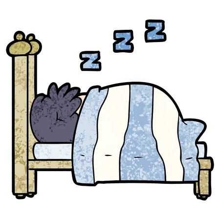 cartoon snoring person