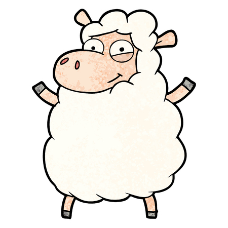 cartoon schapen illustratie. Stock Illustratie