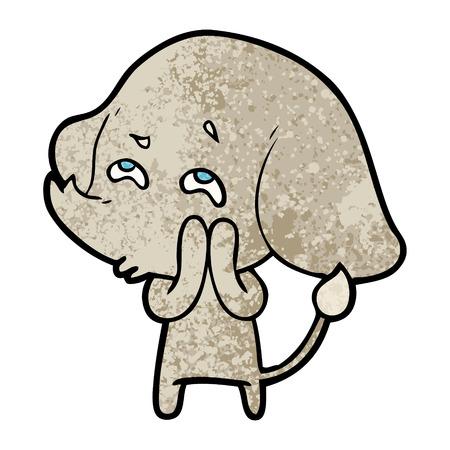 Cartoon elephant remembering Stok Fotoğraf - 94758004