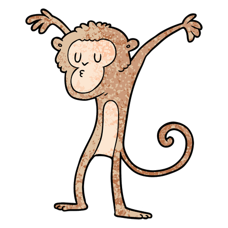 cartoon monkey illustration.