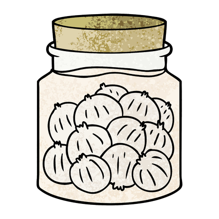 Cartoon pickled onions Illustration