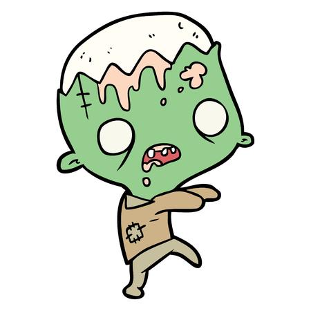 Cute cartoon zombie Vetores
