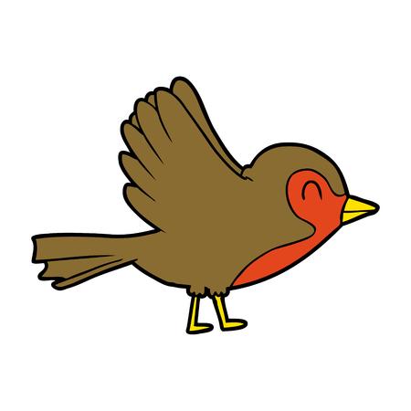 Cartoon Robin illustration. Vectores