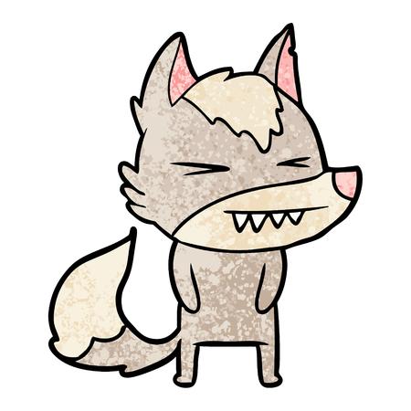 Boze wolf cartoon