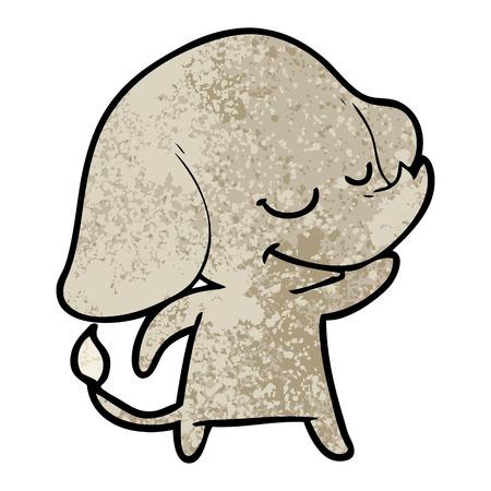 Cartoon smiling elephant Ilustração
