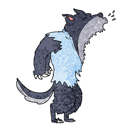 Cartoon howling werewolf