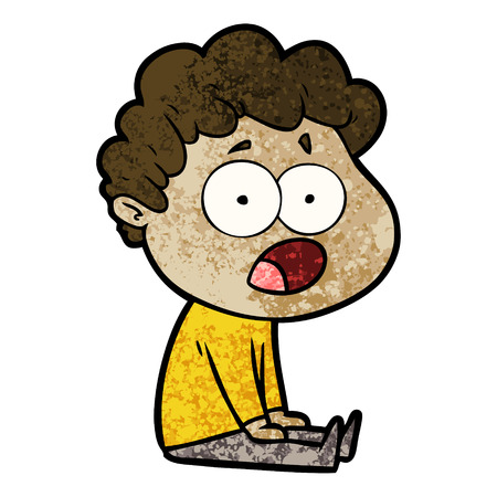 cartoon man gasping in surprise Banco de Imagens - 94610206