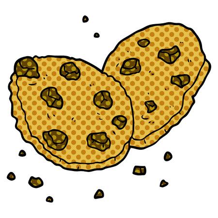 cartoon cookies illustration. Çizim