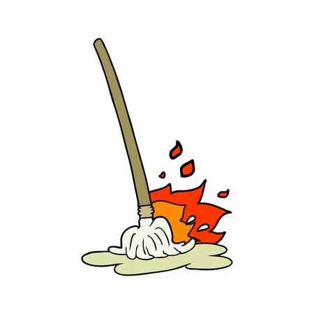 wet cartoon mop
