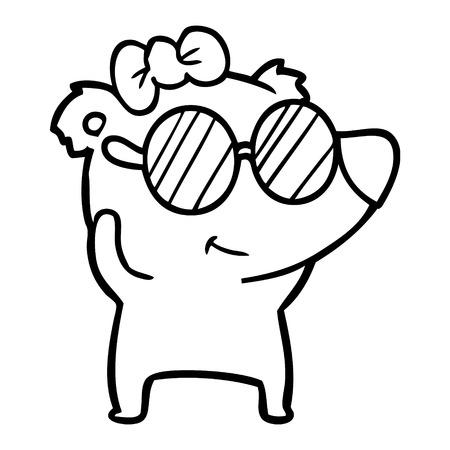 Fumetto dell'orso polare femminile Archivio Fotografico - 94623584
