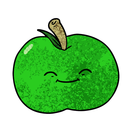 cartoon apple illustration.