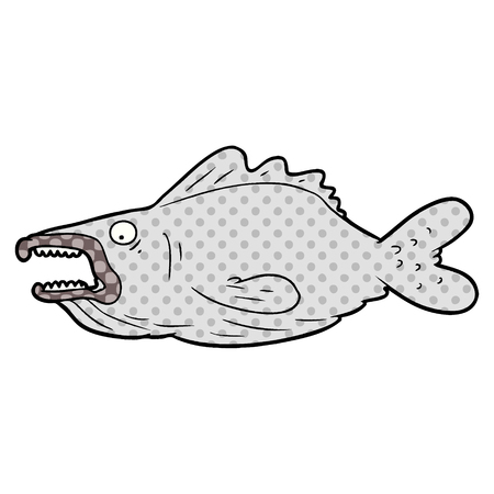 cartoon ugly fish