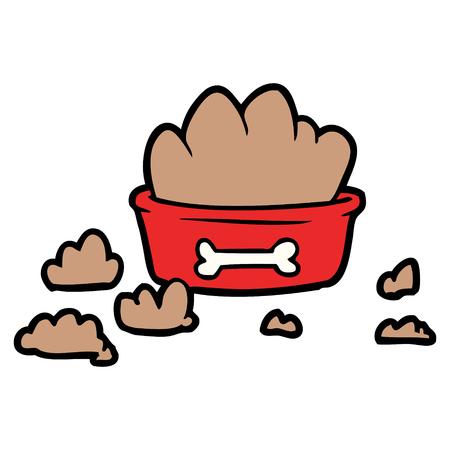cartoon rommelig hondenvoer Stock Illustratie