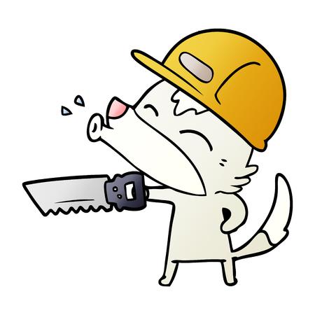 Cartone animato lupo che ulula Archivio Fotografico - 94624939