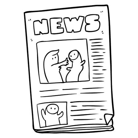 cartoon newspaper illustration. 版權商用圖片 - 94625251