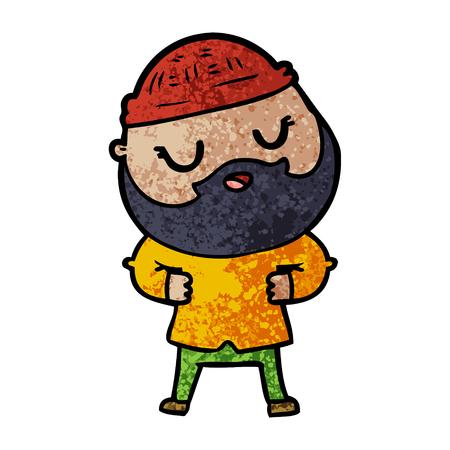 cartoon man with beard 向量圖像