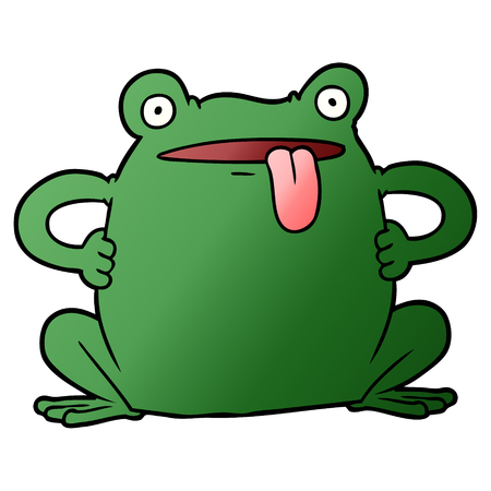 cartoon toad illustration. Illustration