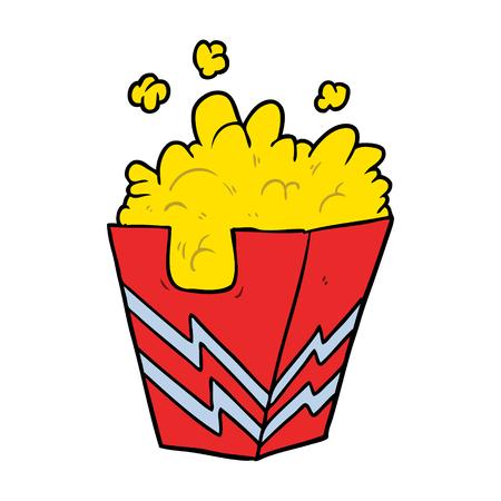 cartoon box of popcorn