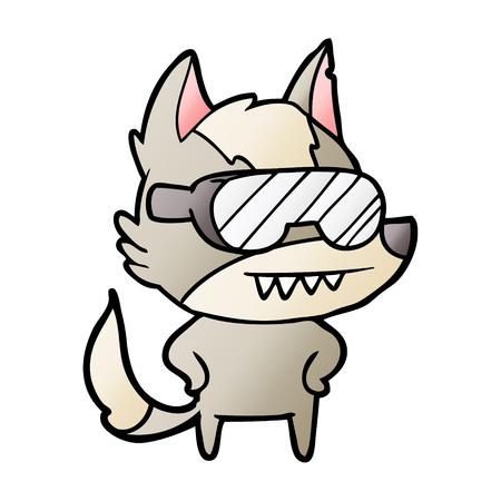 늑대 고글을 쓰고 만화