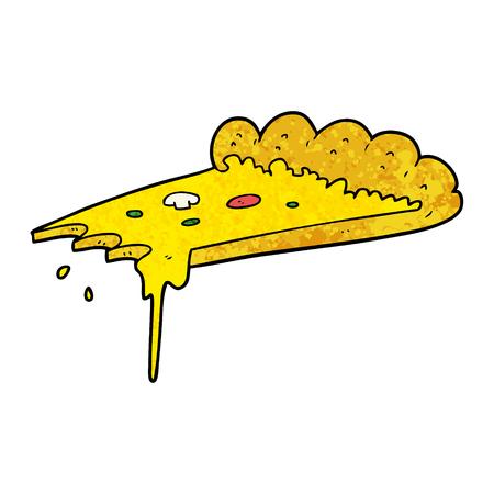 ピザの漫画のスライス