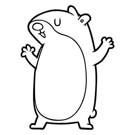 illustration de dessin animé de gerbille.