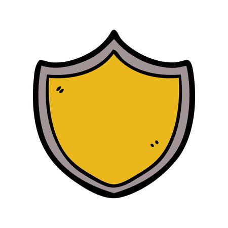 cartoon shield illustration. Illustration
