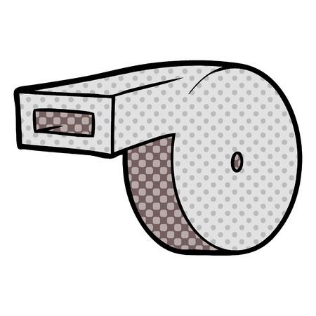 cartoon whistle illustration.