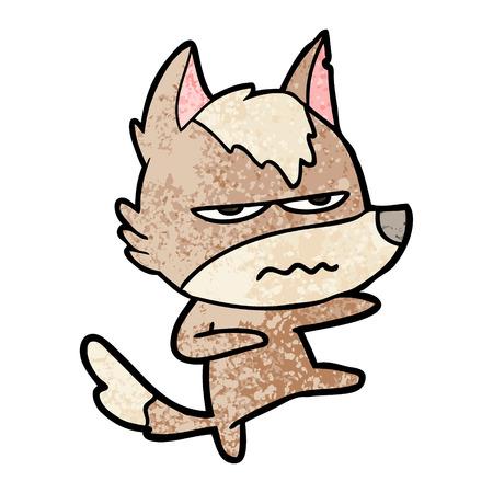 Cartoon verärgert Wolf Standard-Bild - 94653676