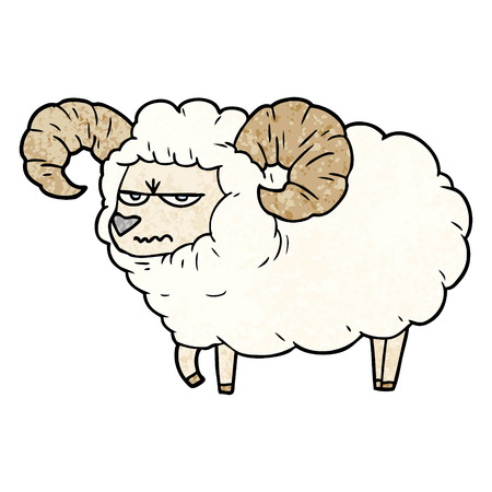 cartoon angry ram