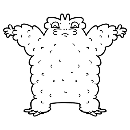 cartoon yeti illustration. Stock Vector - 94641714