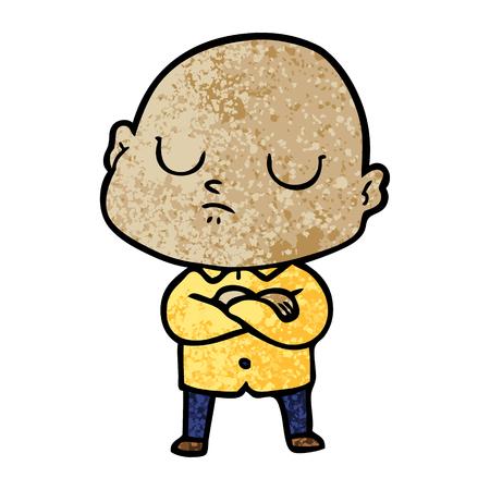 Homem careca dos desenhos animados Foto de archivo - 94653783