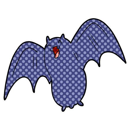 spooky cartoon bat 向量圖像