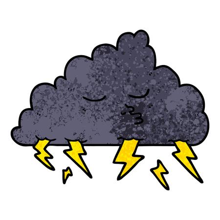 漫画の嵐の雲