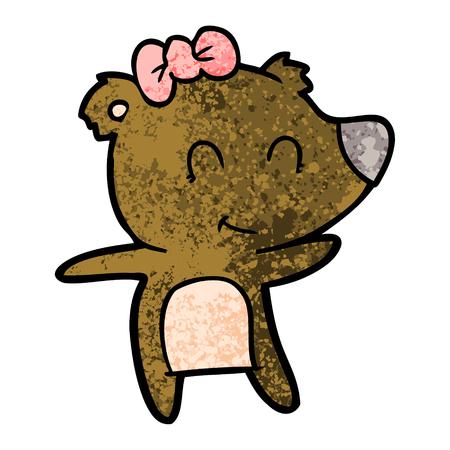 Cartone animato orso femmina Archivio Fotografico - 94695236