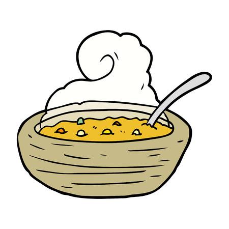 국물의 만화 뜨거운 그릇 일러스트