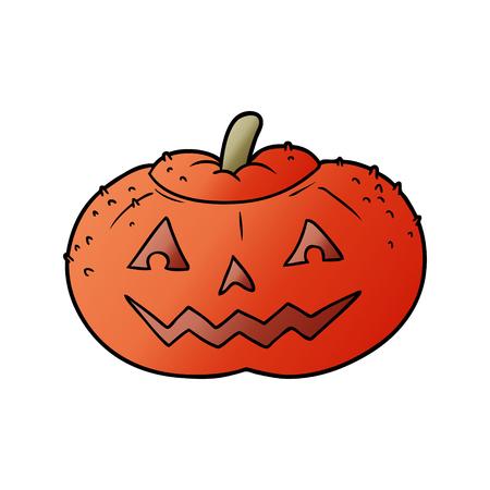 cartoon halloween pumpkin