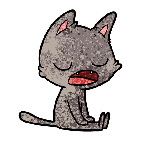 talking cat cartoon 向量圖像